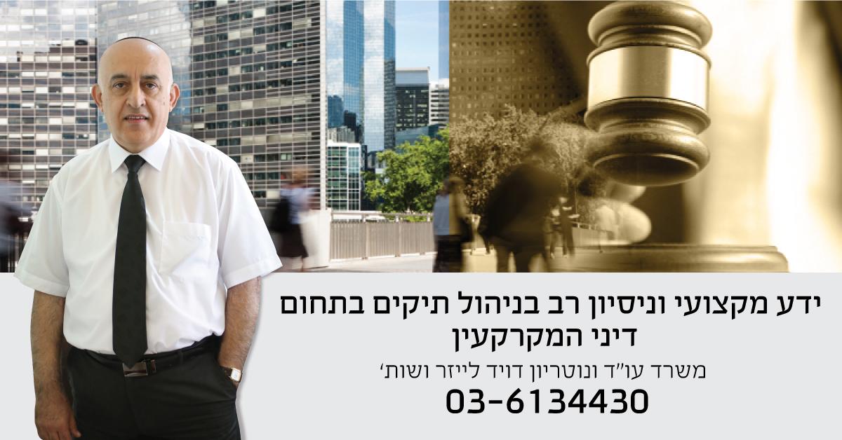 עורך דין מקרקעין דויד לייזר